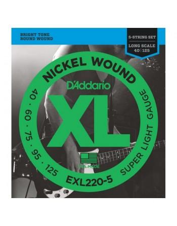 Daddario EXL2205 Juego Bajo 40-125