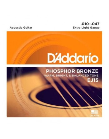DADDARIO EJ15 - Phosphor Bronze Extra Light [10-47]