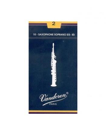 Vandoren Caña Saxo Soprano Tradicional Azul 2 (ud)